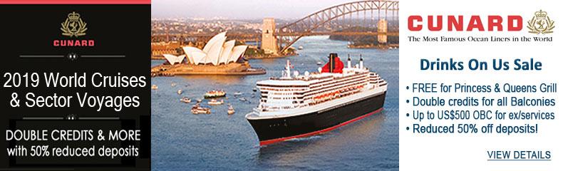 Cunard 2017-18 World Cruises Sale
