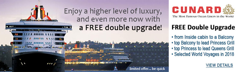 Cunard 2017-18 World Cruises Sale