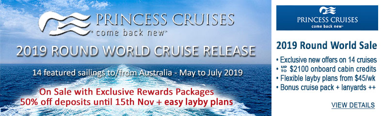 Sea Princess 2019 World Cruise Sale