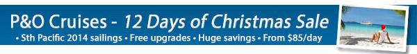 P&O Cruises 12 Days Of Christmas