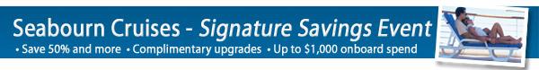 Seabourn Signature Sale