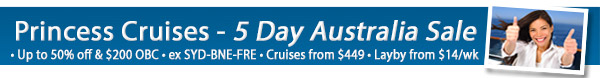 Princess Cruises Local Sale