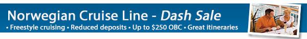 Norwegian Cruise Lines 3 Day Dash Sale