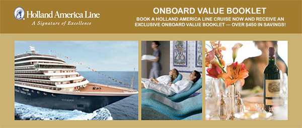 Holland America Onboard Value Booklet