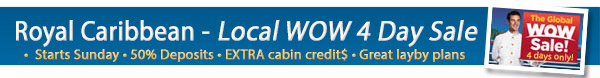 Royal Caribbean Global WOW Sale