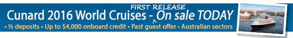 Cunard - Bonus OBC + Reduced Deposits