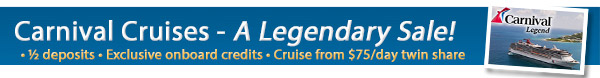 Carnival Legend - Welcome to Australia
