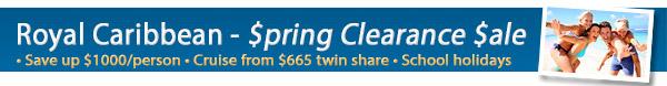 Royal Caribbean - Spring Clearance Sale