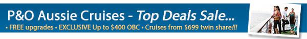 P&O Cruises - Free Upgrades & Bonus OBC