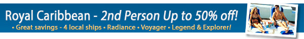 Royal Caribbean - 2nd person Up To 50% Off!