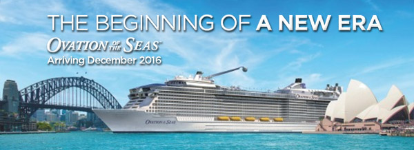 Ovation of the Seas - Australian Debut 2016-17
