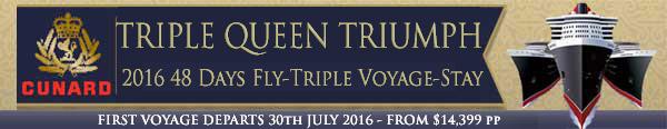 Cunard Triple Queen Triumph