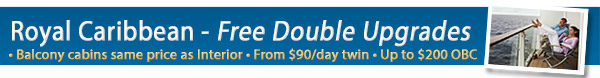 Royal Caribbean Double Upgrade offer!