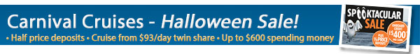 Carnival's Spooktacular Sale - Up to $500 OBC