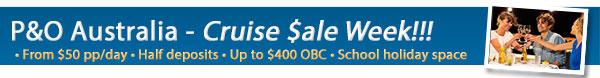 P&O Cruises Exclusive Cruise Sale Week  - 50% Off Deposits & Bonus Onboard Credit
