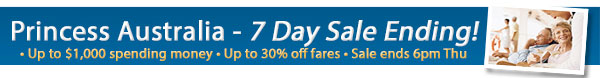 Princess Cruises Sale - Up to $1000 OBC