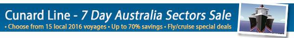 Cunard Line Exclusive Cruise Sale Week  - 50% Off Deposits & Bonus Onboard Credit