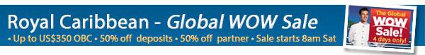 Royal Caribbean's Global WOW Sale