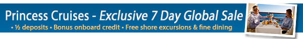 Princess Cruises 3 for Free Sale!