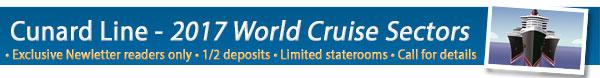 Cunard Line 2017 on Sale!
