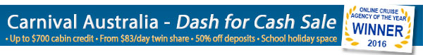 Carnival's Dash for Cruise Cash Sale!