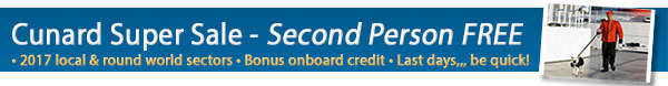 Cunard Line - Second Person Travels Free Sale