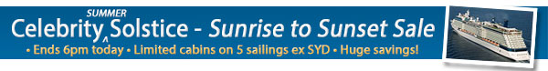 Celebrity Solstice Sale - 1 day only