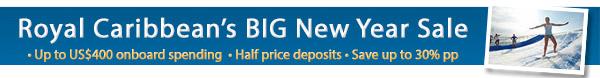 Royal Caribbean - Big New Year Sale