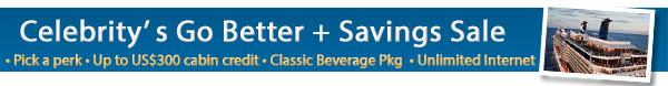 Celebrity - Go Better + Savings Sale