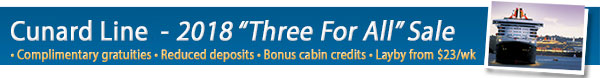 Cunard Lines - Three for All Sale