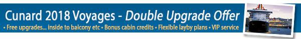 Cunard Line Double Upgrade Sale