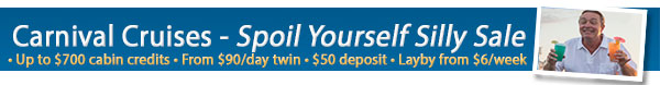 Carnival Cruises Spoil Yourself Silly Sale