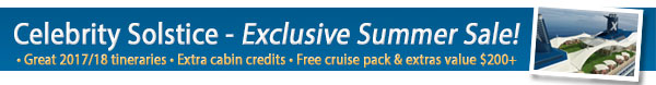 Celebrity Solstice - Cruise Sale Week!
