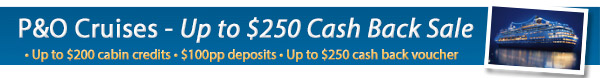 P&O Cruises Cash Back Sale