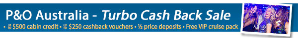 P&O Cruises Cashback Offer