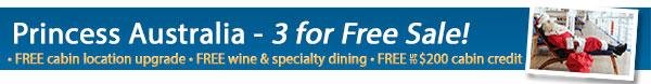 Princess Cruises - 3 For Free Sale