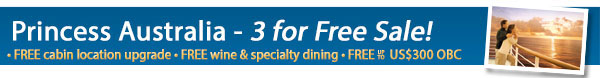 Princess Cruises - Three for Free Sale