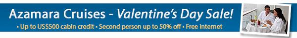 Azamara Valentine's Day Sale