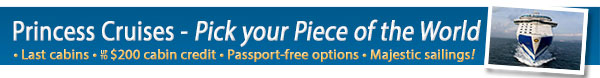 Princess Cruises Pick Your Piece of the World Sale
