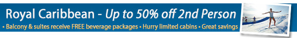 Royal Caribbean - Buy one get one up to 50% off