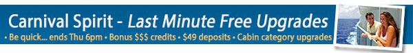Carnival Cruises - Last Minute Sale