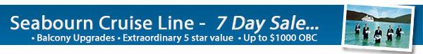 Seabourn 7 Day Upgrade Sale