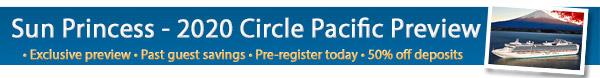 Princess Cruises - Sun Princess - 2020 Circle Pacific Cruise