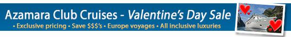 Azamara Club Cruises Valentines Day Exclusives
