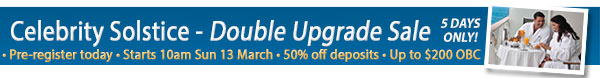 Celebrity Cruises Double Upgrade Sale!