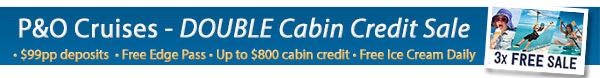 P&O Cruises Double OBC Sale!