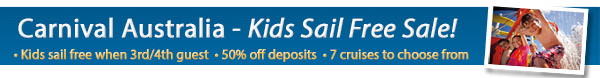 Carnival Kids Sail for Free Sale!