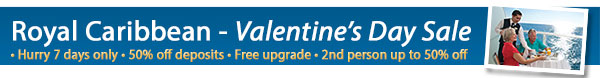 Royal Caribbean's Valentine's Day Sale!