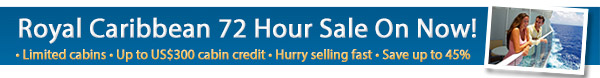 Royal Caribbean's 72 Hour Sale!