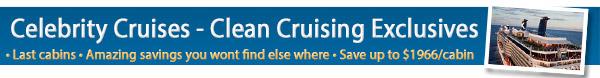 Celebrity Cruises Exclusive Rates!